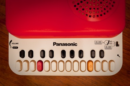 Panasonic SG-123 record player and electronic keyboard